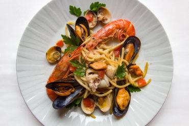 Spaghetti allo Scoglio dal menu del Ristorante Bernini - Hotel Albani Firenze