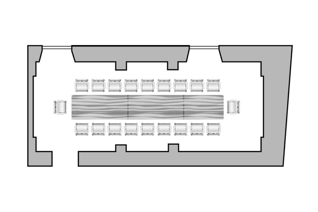 Pianta Sala Cellini